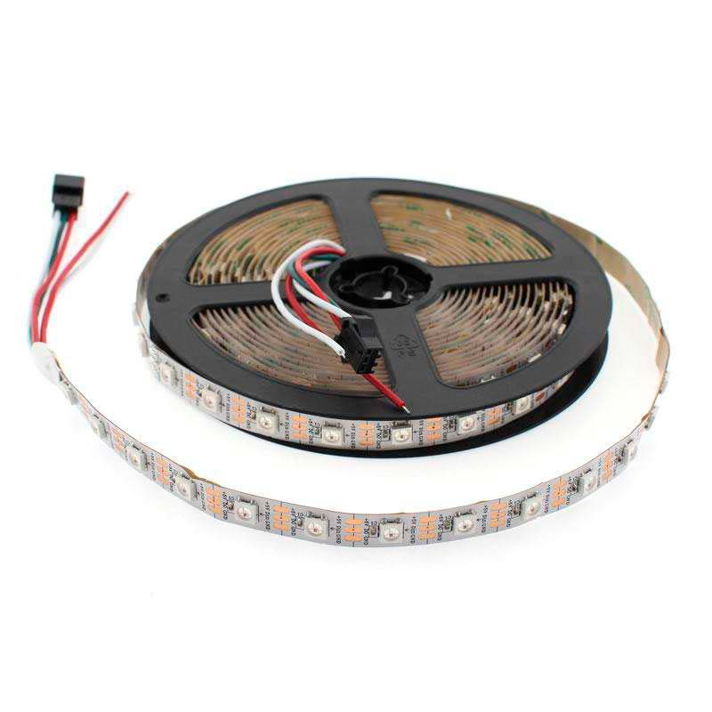 Tira LED IC Digital 2812, RGBX, DC5V, 5m, (60 Led/m) IP20